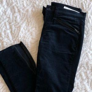 Rag & Bone Navy Velvet Skinny Pant